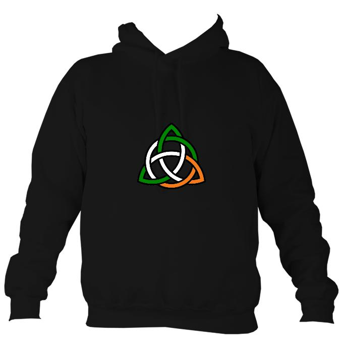Irish Colour Celtic Knot Hoodie-Hoodie-Jet black-Mudchutney