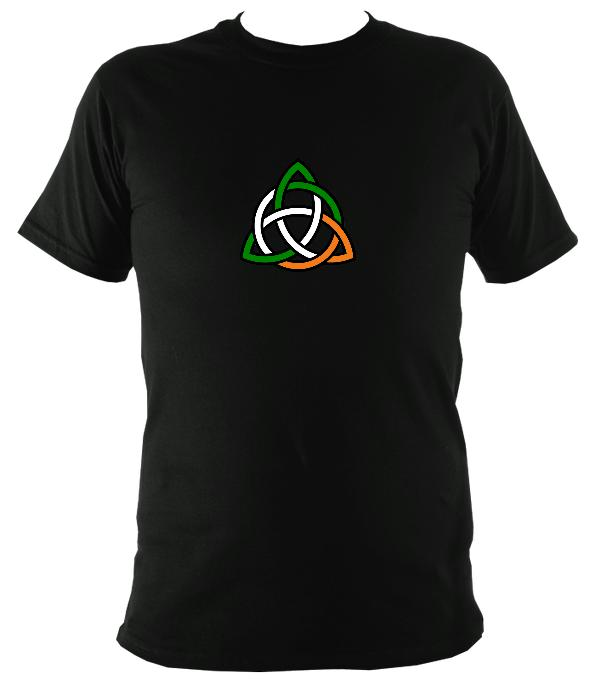 Irish Coloured Celtic Knot T-shirt - T-shirt - Black - Mudchutney