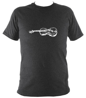 Fiddle Sketch T-Shirt - T-shirt - Dark Heather - Mudchutney