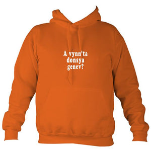 """Would you like to dance"" Cornish Hoodie-Hoodie-Burnt orange-Mudchutney"