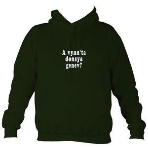 """Would you like to dance"" Cornish Hoodie-Hoodie-Forest green-Mudchutney"