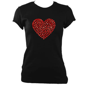 Women's Love Heart Fitted T-Shirt
