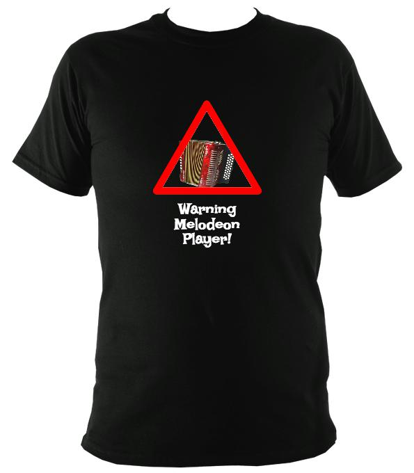 Warning Melodeon Player T-Shirt - T-shirt - Dark Heather - Mudchutney