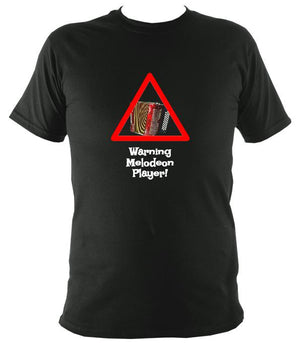 Warning Melodeon Player T-Shirt - T-shirt - Forest - Mudchutney