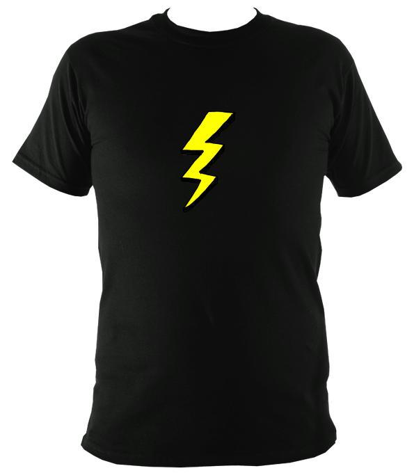 Lightening Bolt T-Shirt - T-shirt - Black - Mudchutney