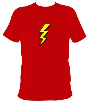 Lightening Bolt T-Shirt - T-shirt - Red - Mudchutney