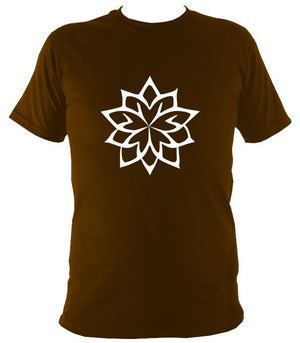 Geometric Flower T-Shirt - T-shirt - Dark Chocolate - Mudchutney