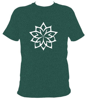 Geometric Flower T-Shirt - T-shirt - Midnight - Mudchutney