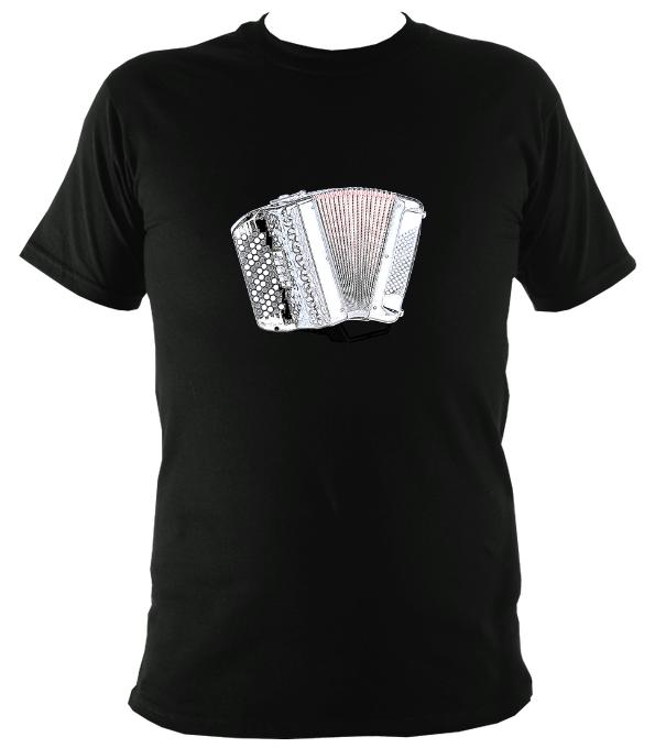 Chromatic Button Accordion T-Shirt - T-shirt - Black - Mudchutney