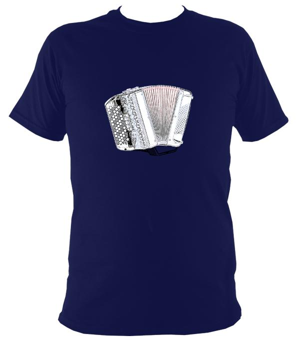 Chromatic Button Accordion T-Shirt - T-shirt - Navy - Mudchutney
