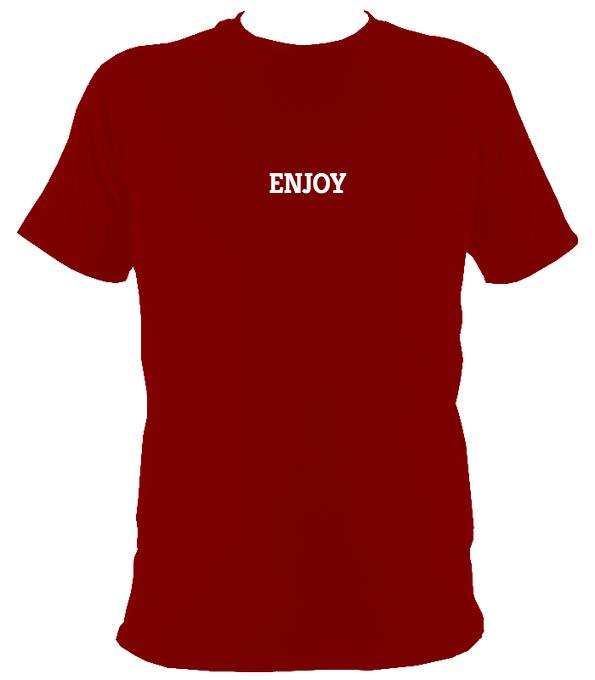 Enjoy T-shirt - T-shirt - Cardinal Red - Mudchutney
