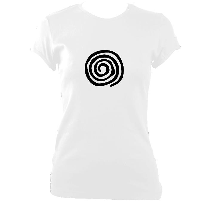 update alt-text with template Spiral Fitted T-Shirt - T-shirt - White - Mudchutney