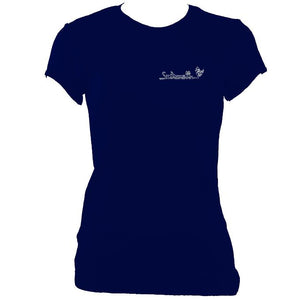update alt-text with template Ladies Fitted Saltarelle T-shirt - T-shirt - Navy - Mudchutney