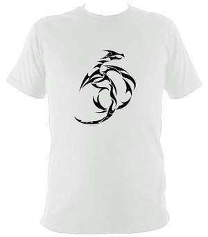 Tribal Dragon T-shirt - T-shirt - White - Mudchutney