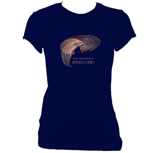 "update alt-text with template The Drystones ""Apparitions"" Ladies Fitted T-shirt - T-shirt - Navy - Mudchutney"