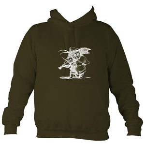 Fiddle Playing Goblin Hoodie-Hoodie-Olive green-Mudchutney