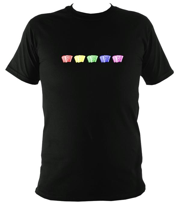 Rainbow Accordions T-shirt - T-shirt - Black - Mudchutney