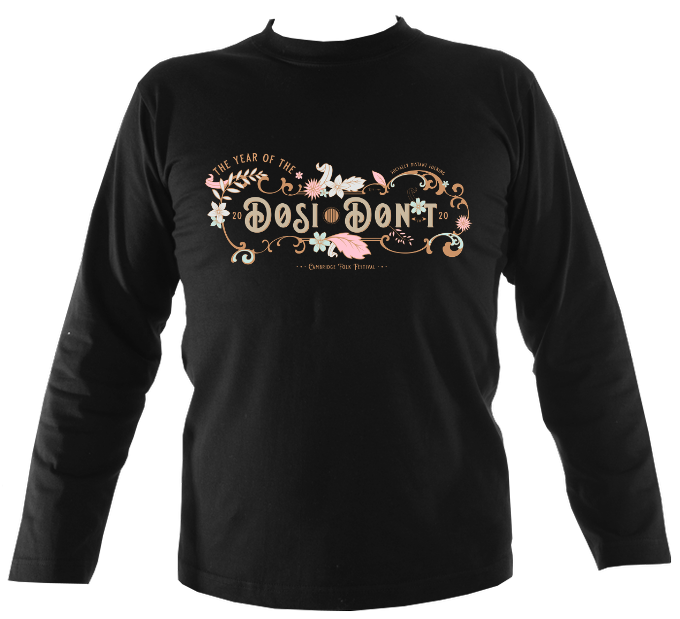 Cambridge Folk Festival Dosi-Don't Mens Long Sleeve Shirt