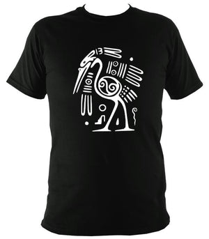 Egyptian or Tribal Style Bird - T-shirt - Black - Mudchutney