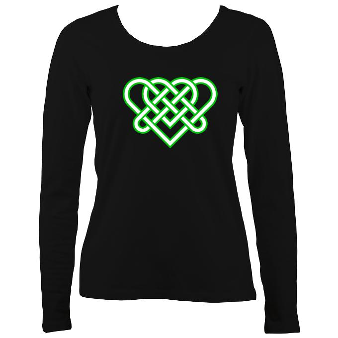 Celtic Triple Heart Ladies Long Sleeve Shirt