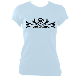 Flower Ladies Fitted T-shirt