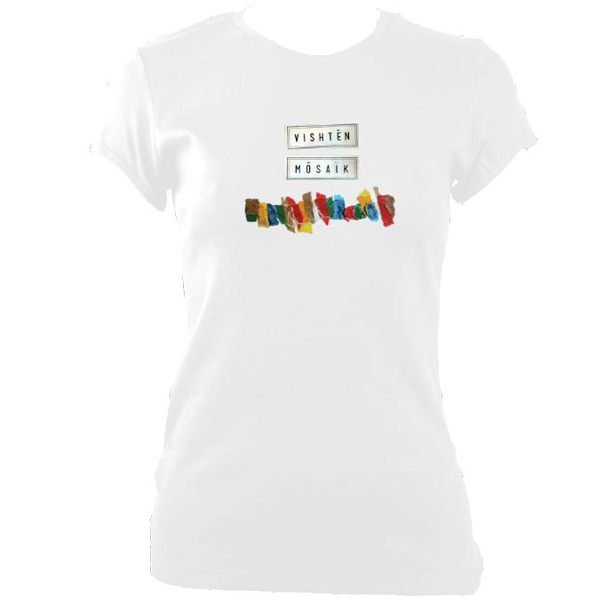 "update alt-text with template Vishtèn ""Mosaic"" Ladies Fitted T-Shirt - T-shirt - White - Mudchutney"