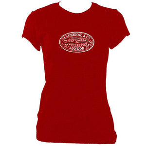 update alt-text with template Lachenal Concertina Logo Ladies Fitted T-shirt - T-shirt - Antique Cherry Red - Mudchutney