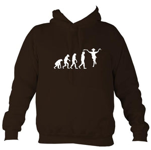 Evolution of Morris Dancers Hoodie-Hoodie-Hot chocolate-Mudchutney