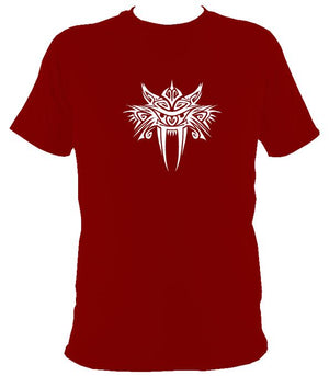 Tribal Sabre Tooth T-Shirt - T-shirt - Cardinal Red - Mudchutney