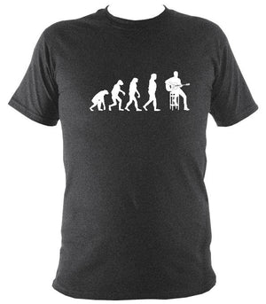 Evolution of Guitar Players T-shirt - T-shirt - Dark Heather - Mudchutney