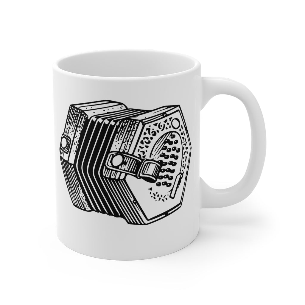 English Concertina Mug | Folk Music Squeeze Box Cup | Lachenal Concertina Mug