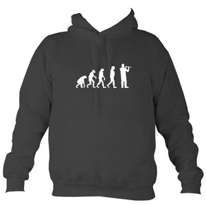 Evolution of Flute Players Hoodie-Hoodie-Charcoal-Mudchutney