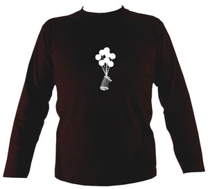 Banksy Style Concertina Mens Long Sleeve Shirt - Long Sleeved Shirt - Dark chocolate - Mudchutney