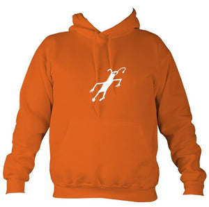 Caveman Painting Hoodie-Hoodie-Burnt orange-Mudchutney