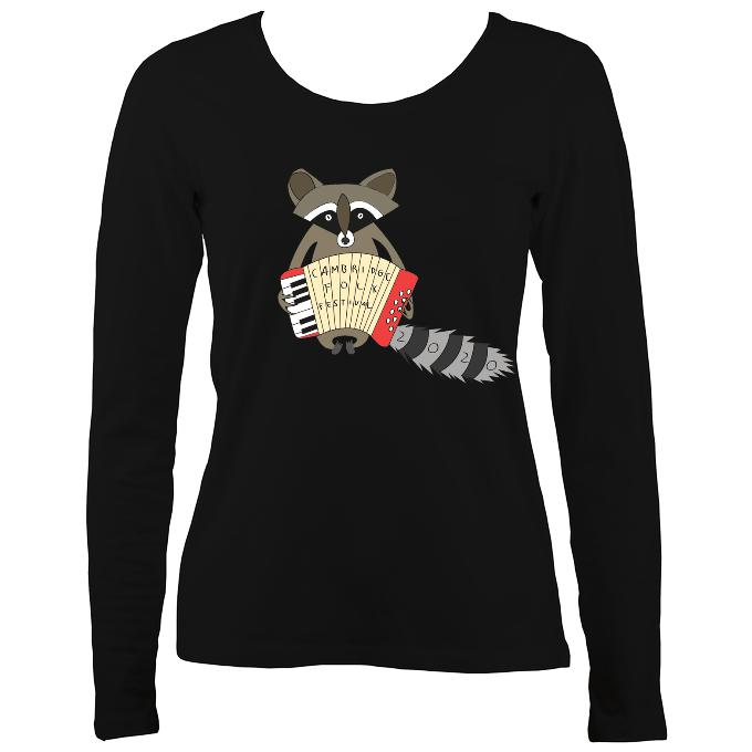Cambridge Folk Festival - Design 2 - Women's Long Sleeve Shirt - Long Sleeved Shirt - Black - Mudchutney