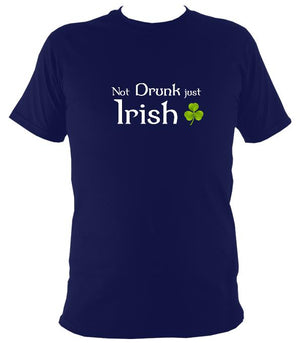 Not drunk just Irish T-shirt - T-shirt - Navy - Mudchutney