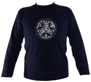 Celtic Birds Mens Long Sleeve Shirt
