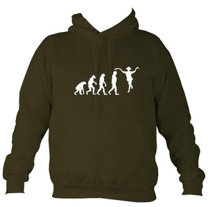 Evolution of Morris Dancers Hoodie-Hoodie-Olive green-Mudchutney