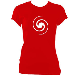 update alt-text with template Spiral Ladies Fitted T-shirt - T-shirt - Red - Mudchutney