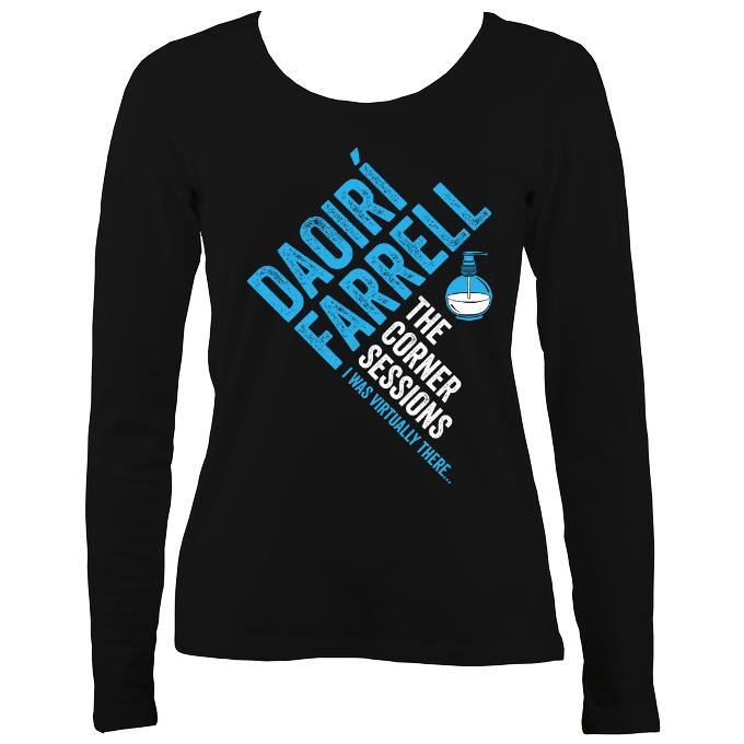 Daoiri Farrell Corner Session Bottle Women's Long Sleeve Shirt - Long Sleeved Shirt - Black - Mudchutney