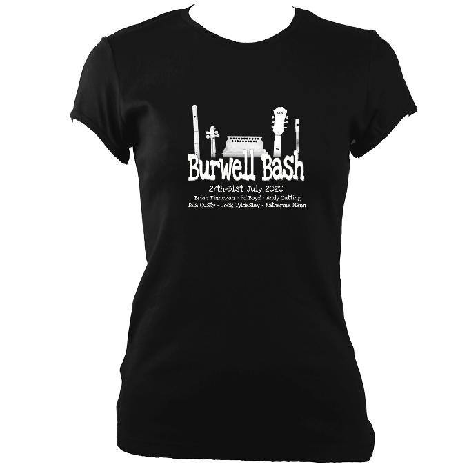 update alt-text with template Burwell Bash 2020 Ladies Fitted T-shirt - T-shirt - Black - Mudchutney
