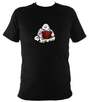 Piano Accordion Playing Buddha T-shirt - T-shirt - Black - Mudchutney
