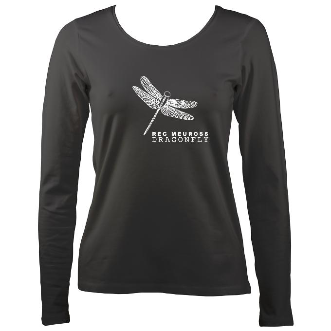 "Reg Meuross ""Dragonfly"" Women's Long Sleeve Shirt - Long Sleeved Shirt - Charcoal - Mudchutney"