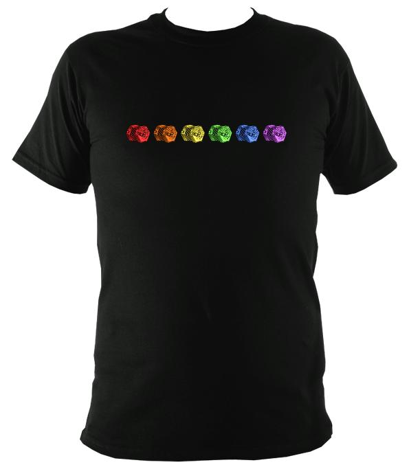 Rainbow of Concertinas T-shirt - T-shirt - Black - Mudchutney