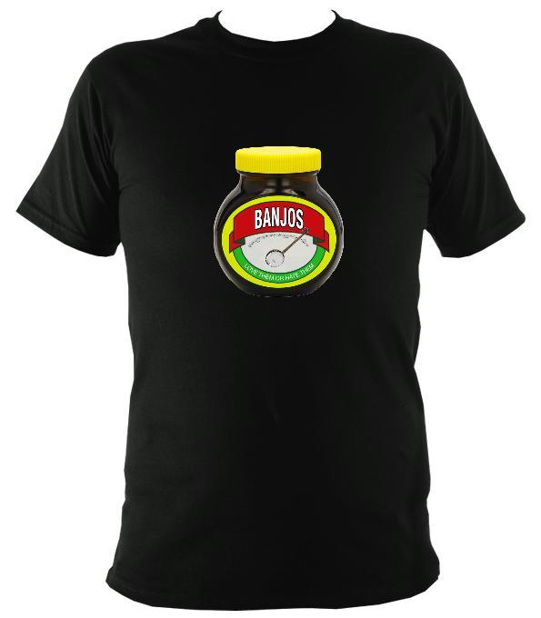 Banjos - Love or Hate them T-shirt - T-shirt - Black - Mudchutney