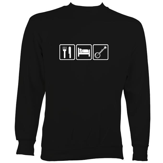 Eat, Sleep, Play Banjo Sweatshirt
