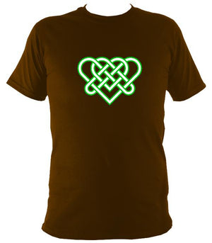Celtic Triple Hearts Knot T-shirt - T-shirt - Dark Chocolate - Mudchutney