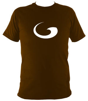 Tribal Wave T-shirt - T-shirt - Dark Chocolate - Mudchutney