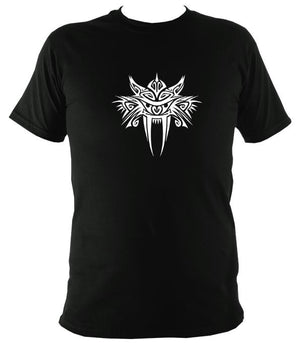 Tribal Sabre Tooth T-Shirt - T-shirt - Black - Mudchutney