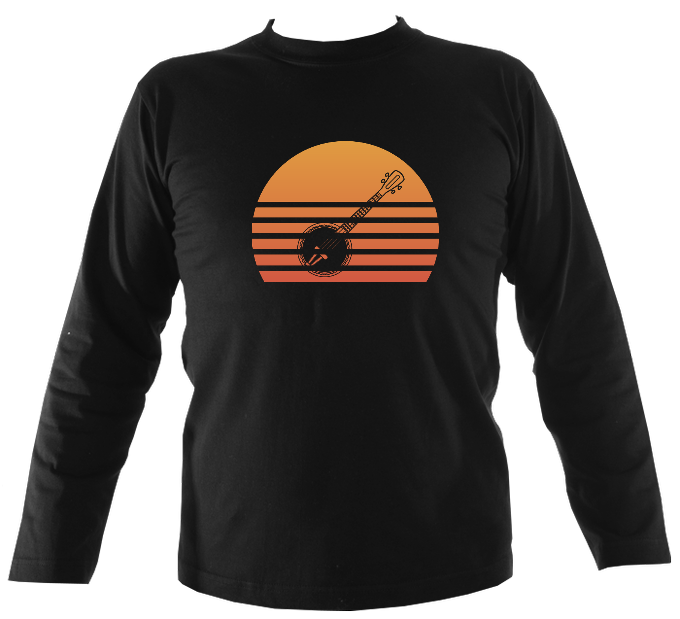 Banjo Sunset Mens Long Sleeve Shirt